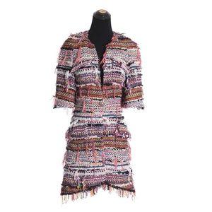 Chanel Shaggy Rainbow Coat
